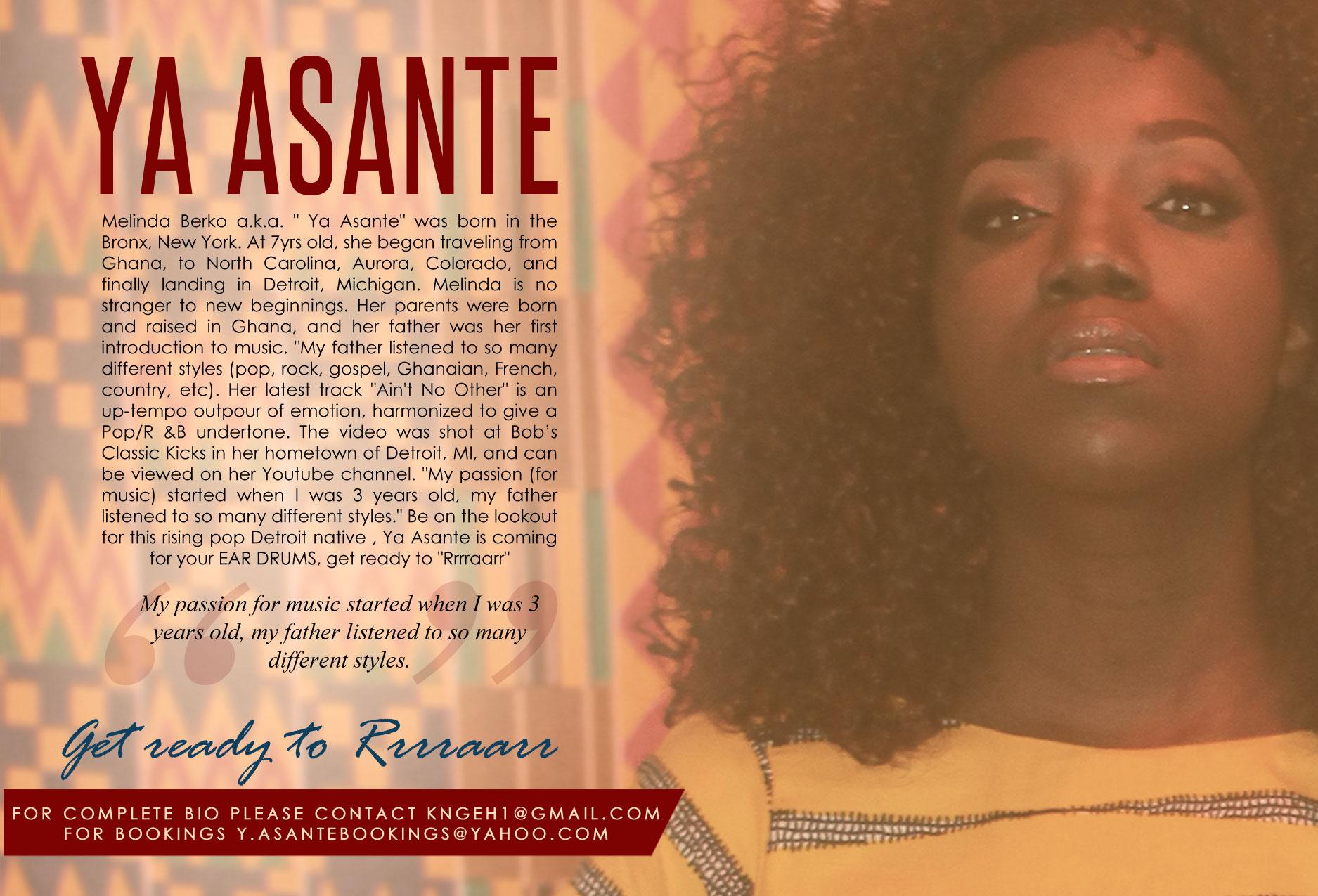 Ya Asante Artist Card